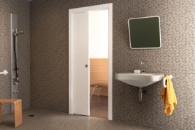 Create space using pocket door systems
