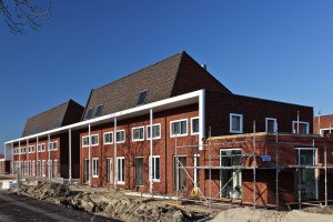 Construction of nearly finished family houses