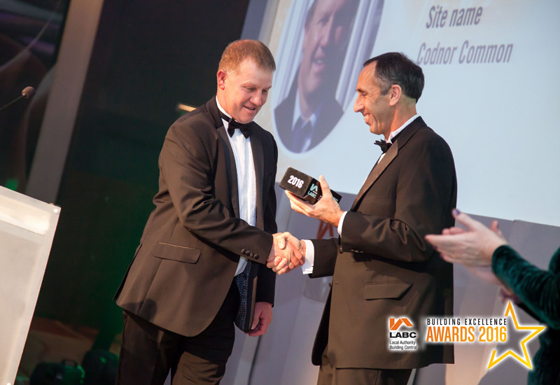 Award win for Peveril Homes Site Manager