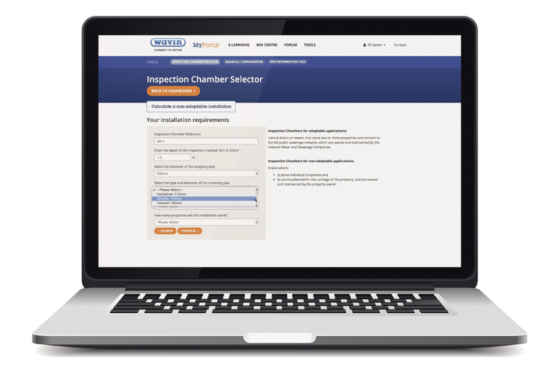 Wavin's new online tool for chamber selection