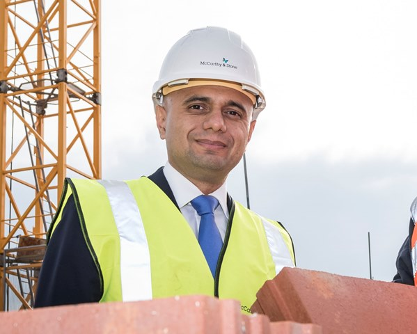 Sajid Javid heads up new Ministry of Housing Communities and Local Government