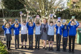 Peveril Homes funds new books at Packington Primary School