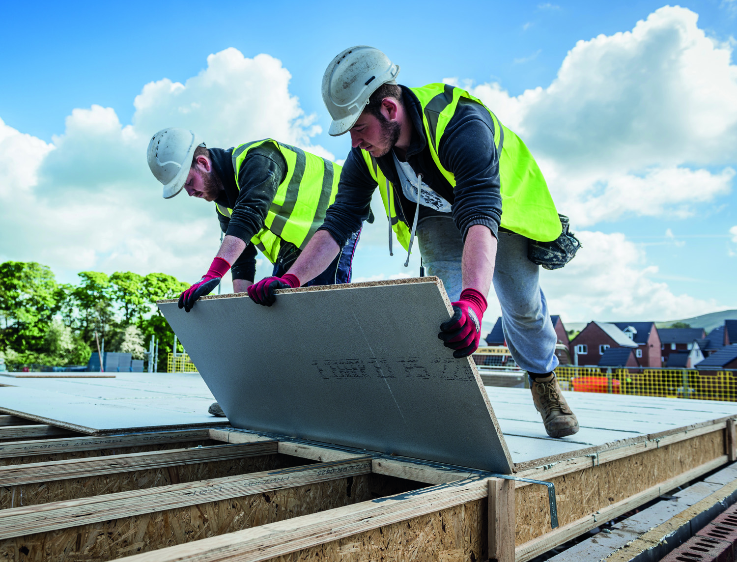 Weather-resistant flooring for sites affected by poor weather