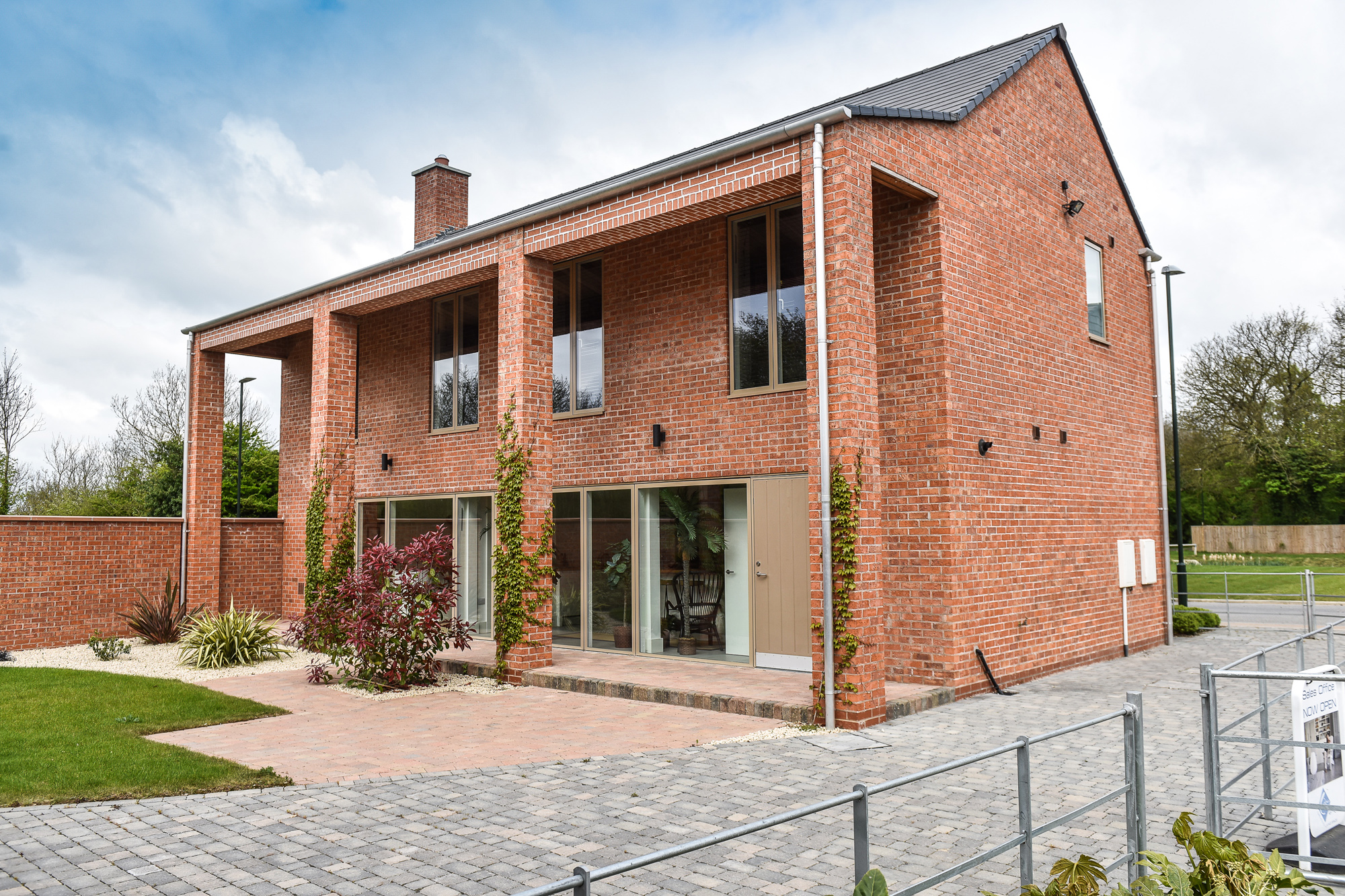 An aluminium rainwater system for a contemporary village development