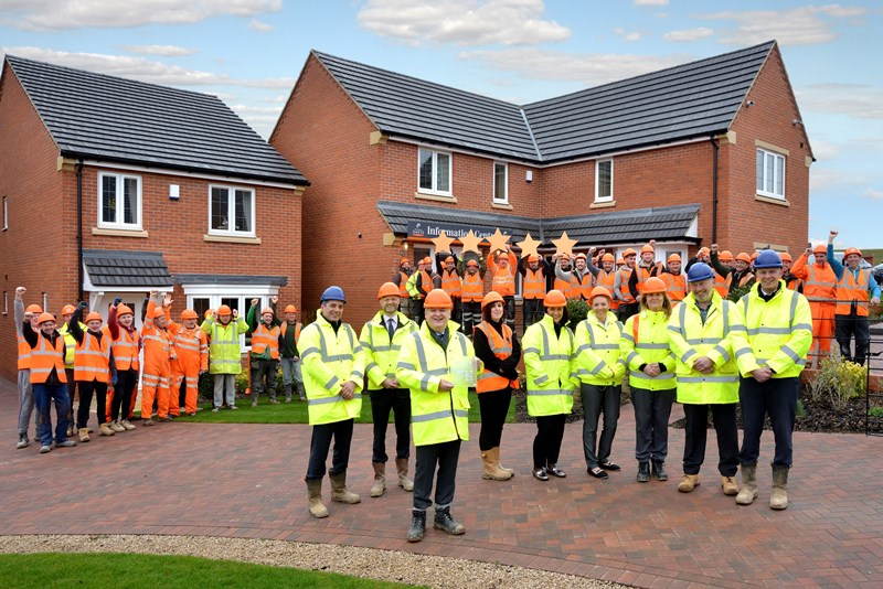Midlands housebuilders awarded 5 star status