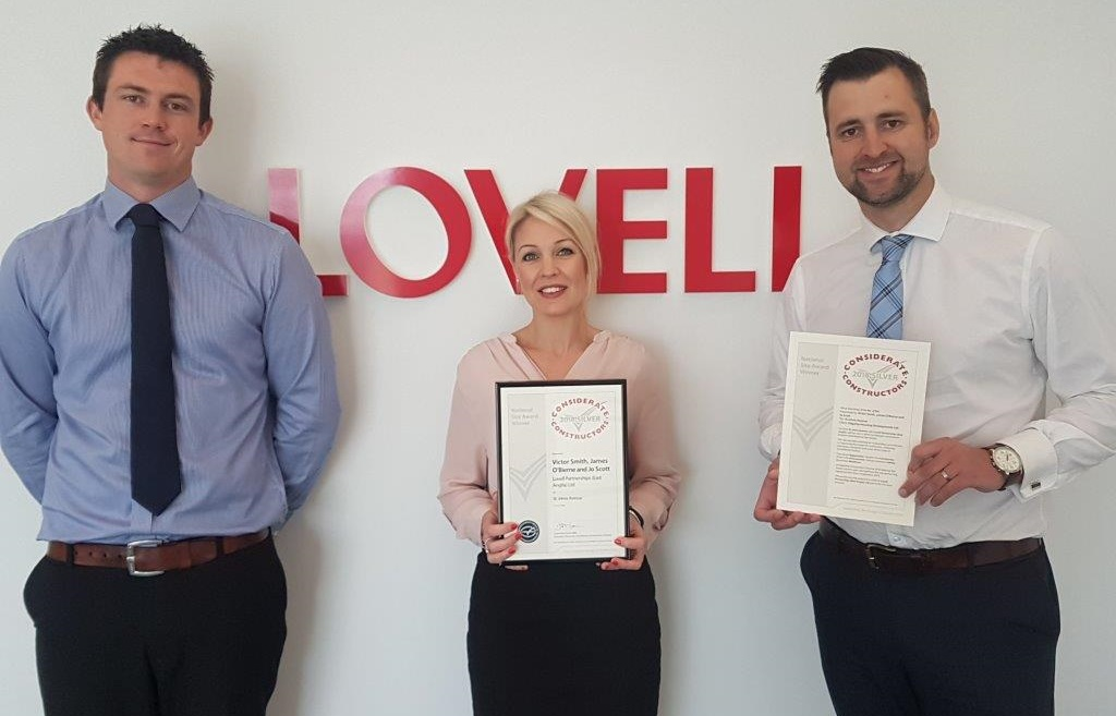 Newmarket homes team wins Silver for considerate construction