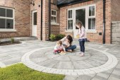 How can paving set the first impressions of a new home?