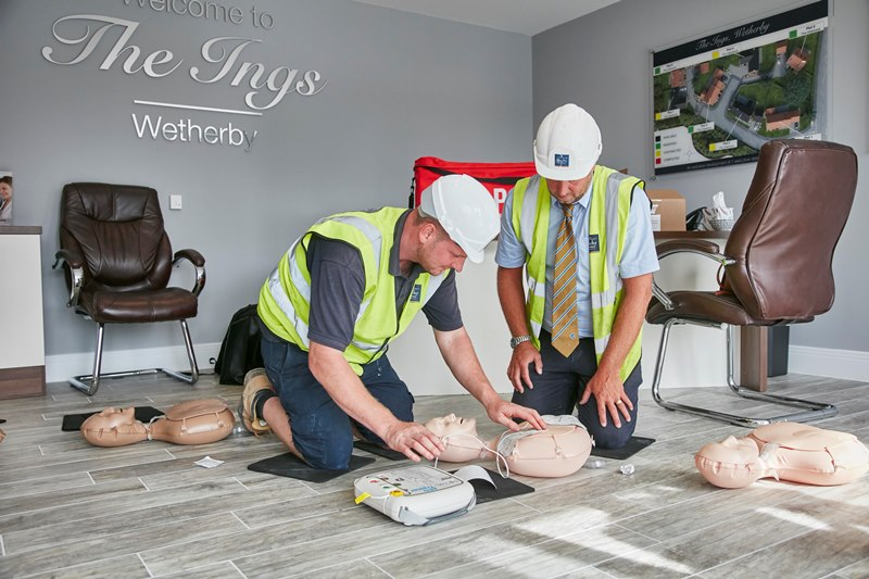 Defibrillators to be installed on Duchy Homes' construction sites