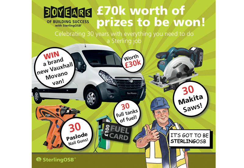 New van the star prize in Norbord's latest competition