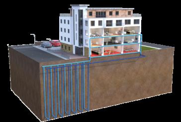 Ground source heat pump for flats