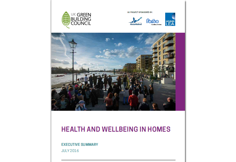 UK-GBC launches new report into Health & Wellbeing in Homes
