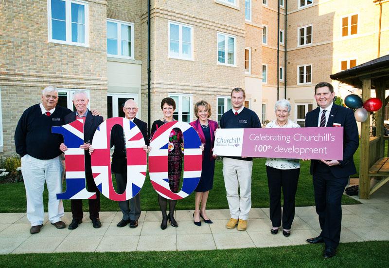 Dame Esther Rantzen opens Churchill's 100th development