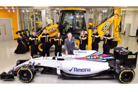 JCB announce partnership with Williams Martini Racing