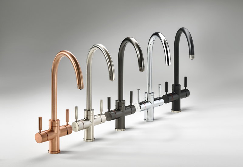 Abode launch Pronteau 3 in 1 steaming hot water taps