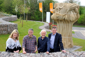 Floral artwork adorns entrance to new Leicestershire development