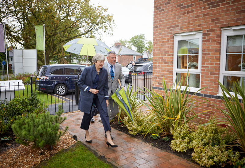 Theresa May visits Barratt Development following Help to Buy announcement