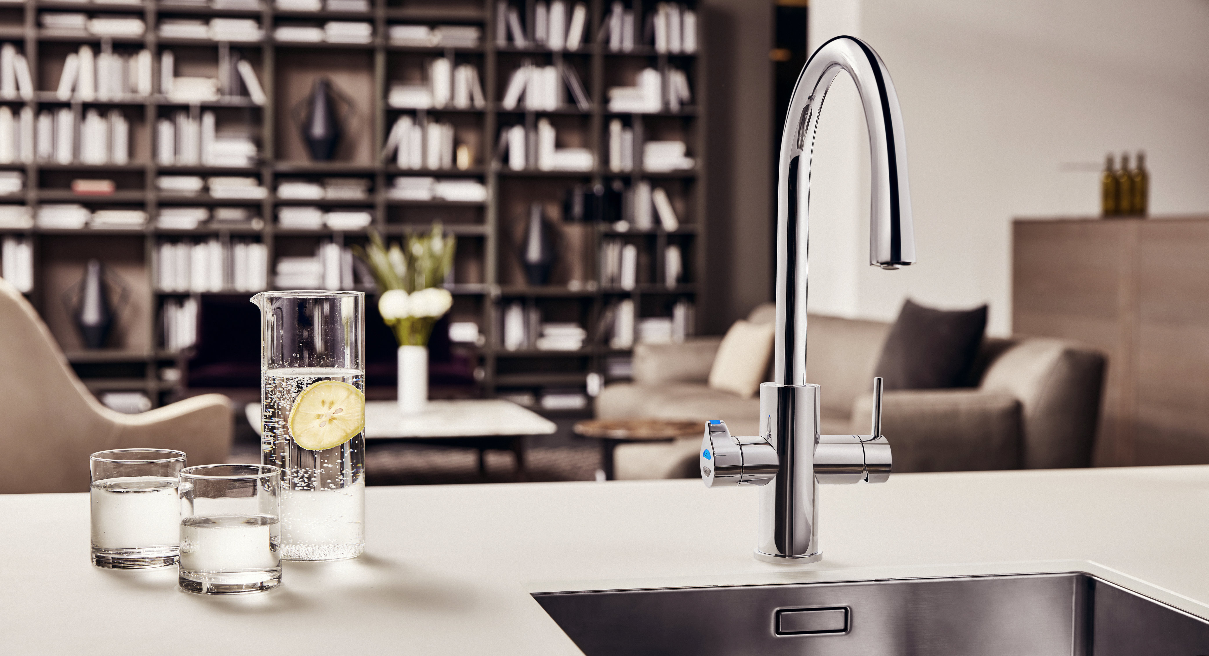 Five water options in one tap design