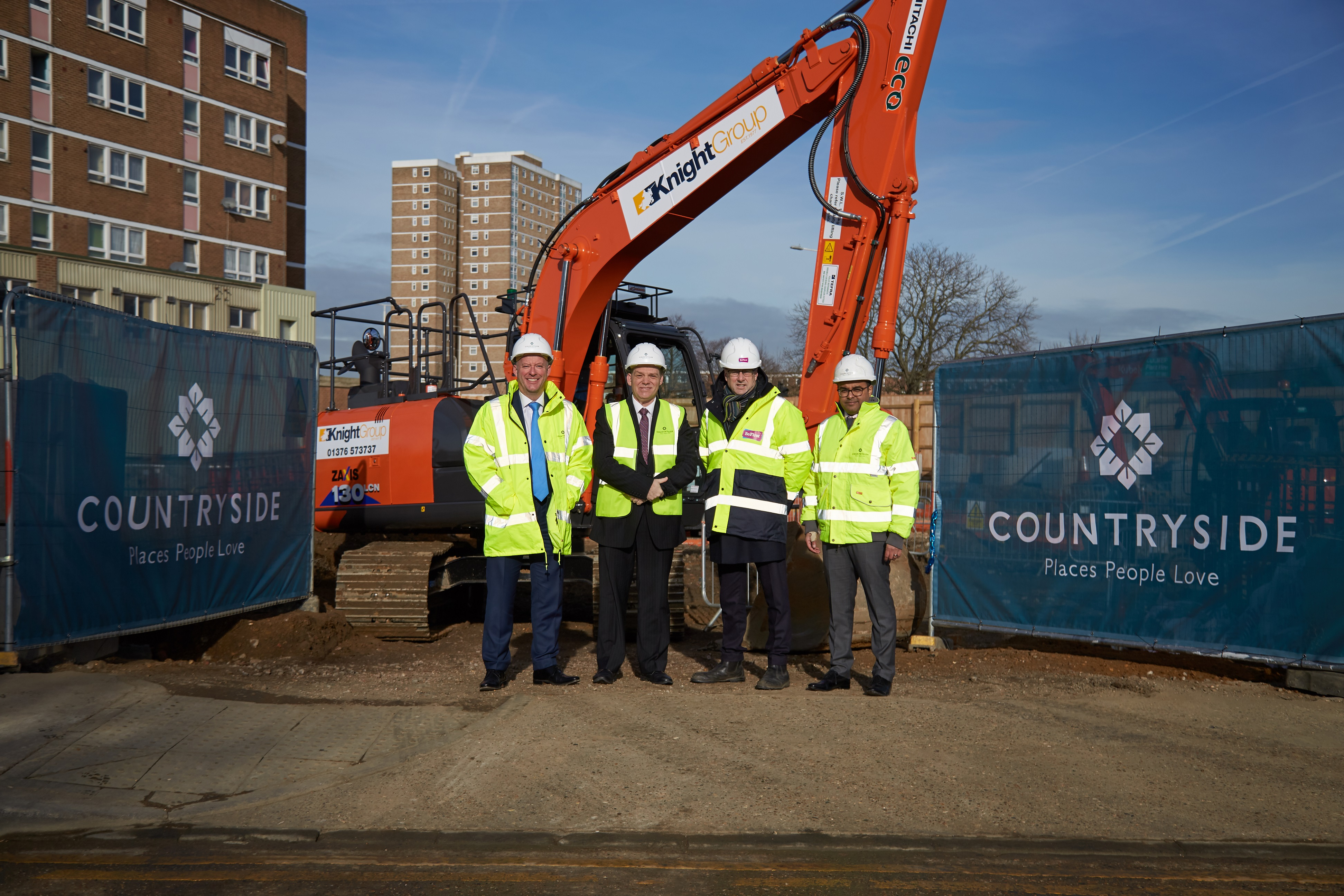 Ground-breaking ceremony marks the start of construction at Becontree Heath