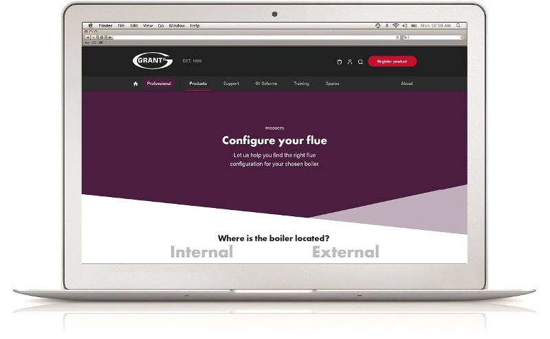New online flue configurator tool from Grant UK