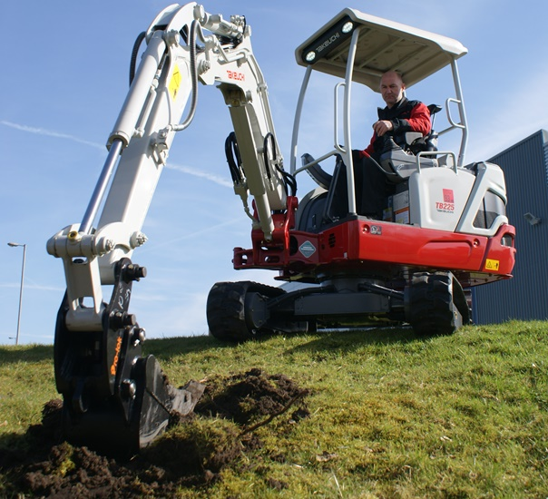 Takeuchi's latest compact mini excavator