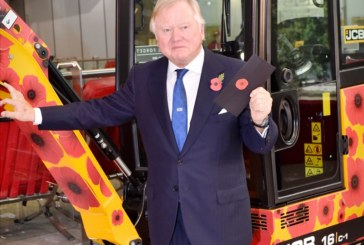 JCB honours centenary of WWI armisitice