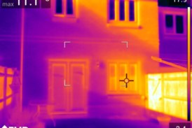 Detect heat loss with thermal imaging