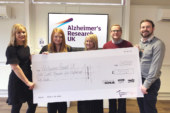 Kohler Mira raises over £58,000 for Alzheimer's Research UK