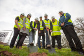 Ceremony kicks off first affordable housing development in Powys for over 40 years