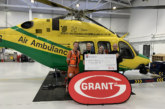 Grant UK presents Wiltshire Air Ambulance with £10,000 donation