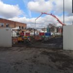 Construction work underway on apartment scheme in Manchester