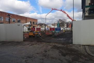 Construction work underway on apartment scheme in Manchester