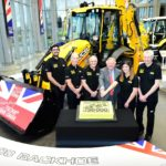 Historic day as 750,000th backhoe rolls of JCB production line