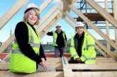 First roofs fitted at new affordable housing development in Telford