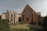 Green light shines down on historic Leeds church