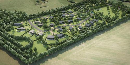 Luxury development on WWII hospital site takes shape