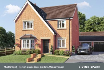 Woodbury Gardens launches to the market in Moggerhanger, Bedfordshire