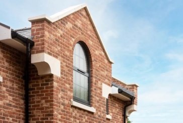 Keystone brick slip feature lintels hold the key to well-executed brickwork at old coal yard development