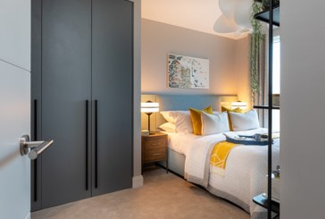 Beautiful bespoke wardrobe doors from Draks for Berkeley's Horlicks Quarter development