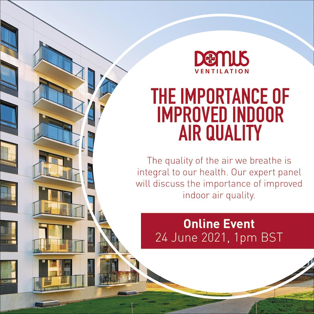 Domus Ventilation sponsors influential indoor air quality webinar