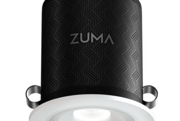 Zuma launches ceiling light fixture with loudspeaker